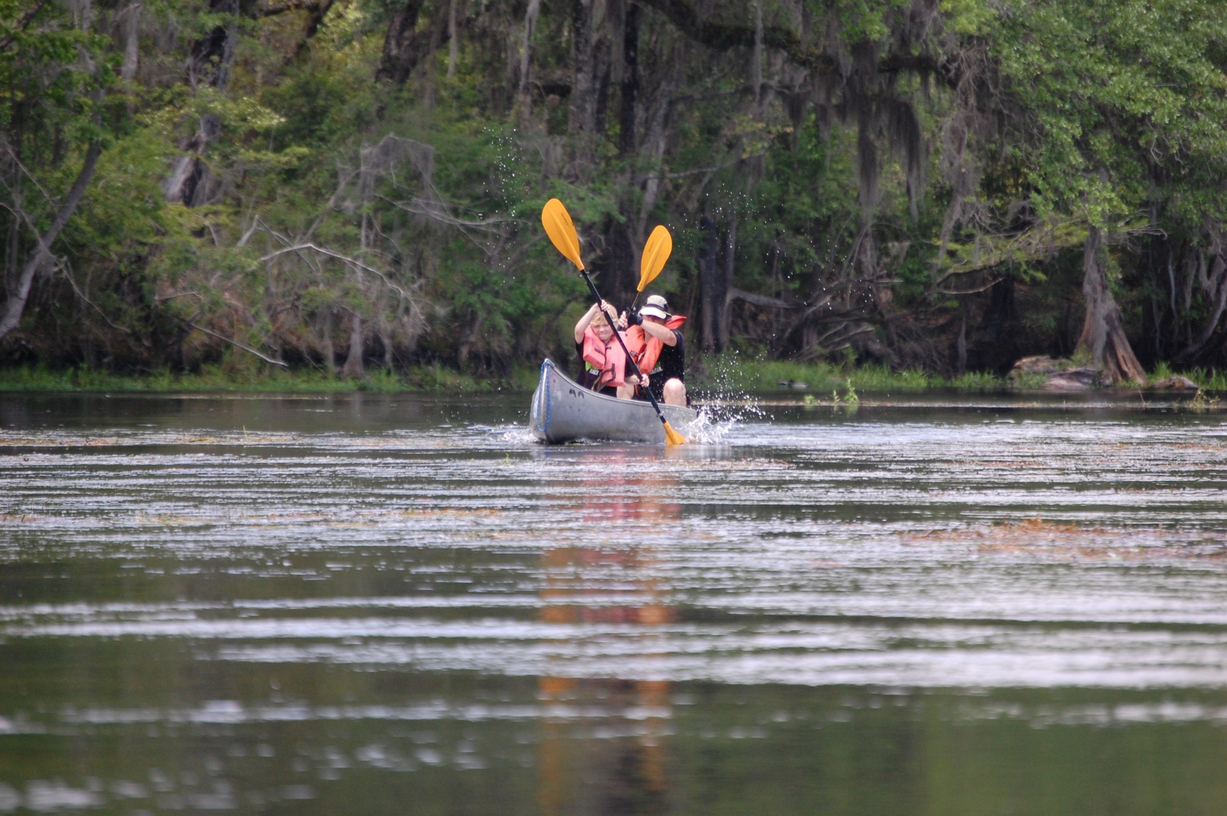 Hunter Leininger paddles the Missing River